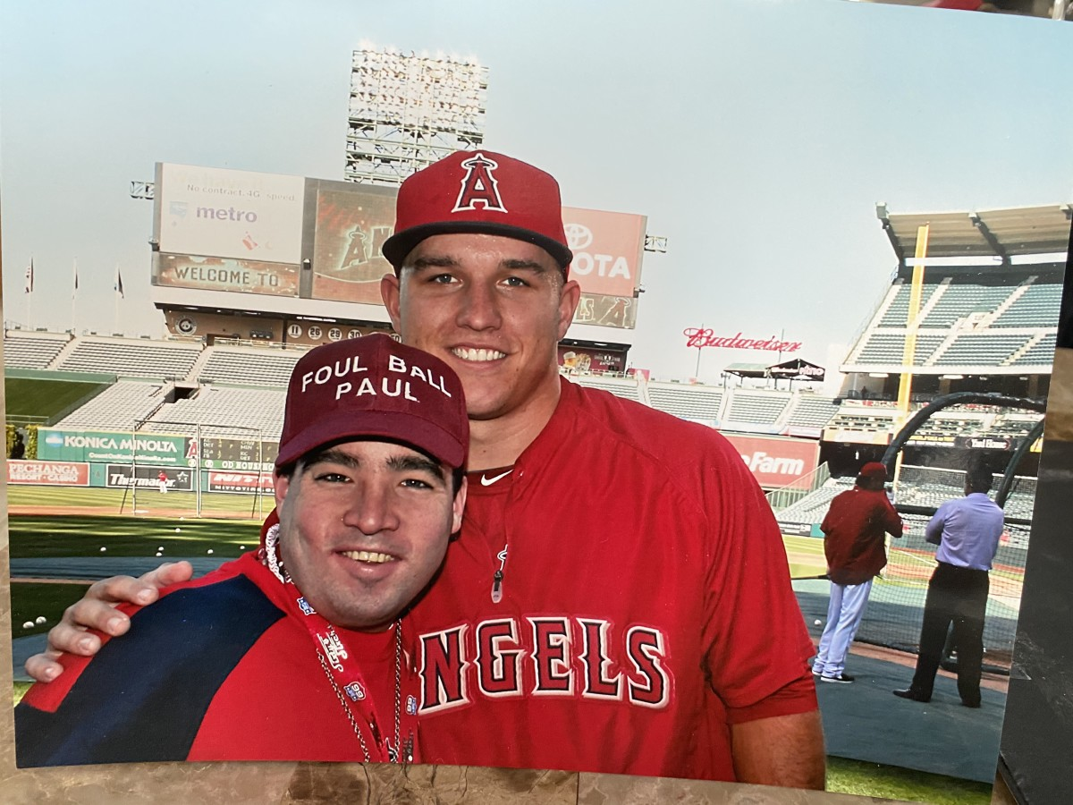 Paul Jones with MLB star Mike Trout.