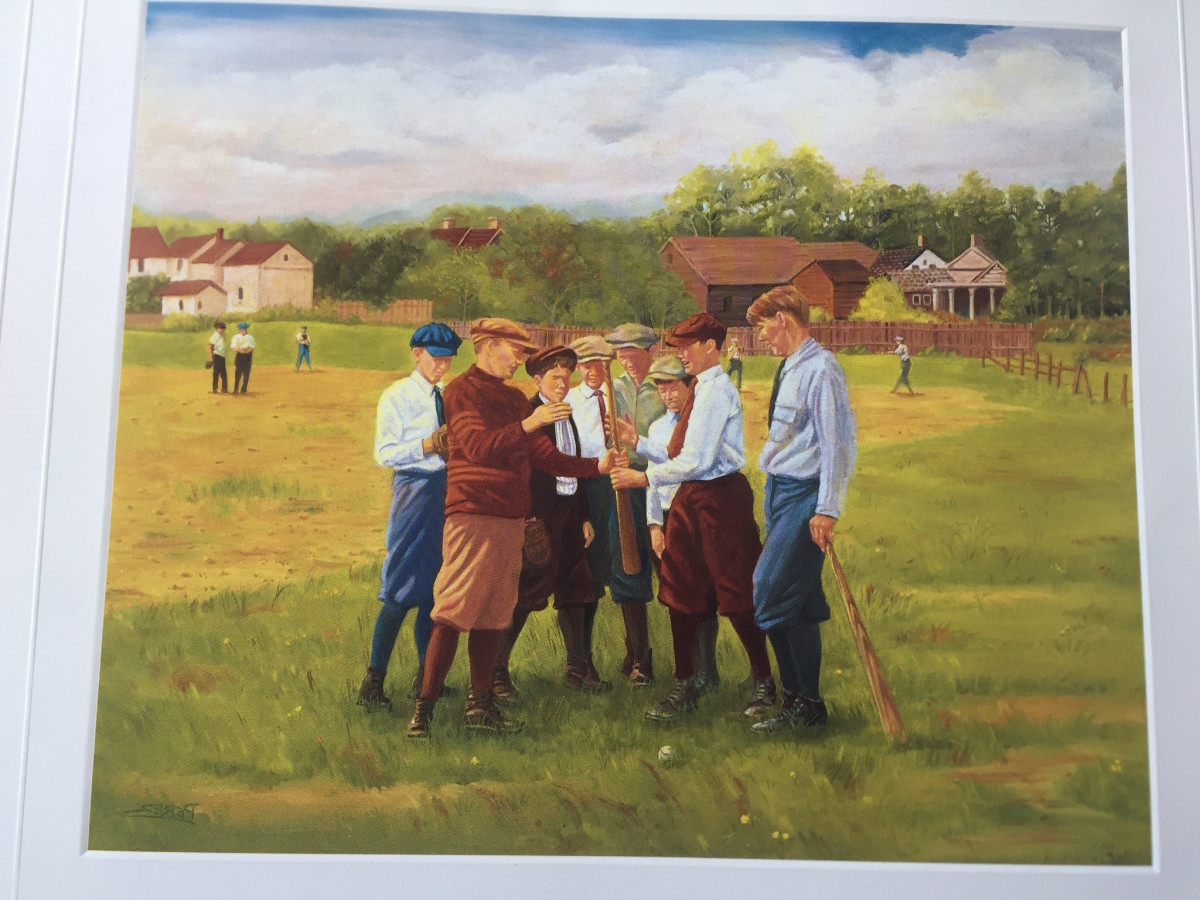 """Dick Perez lithograph """"School Boys At Play."""""""