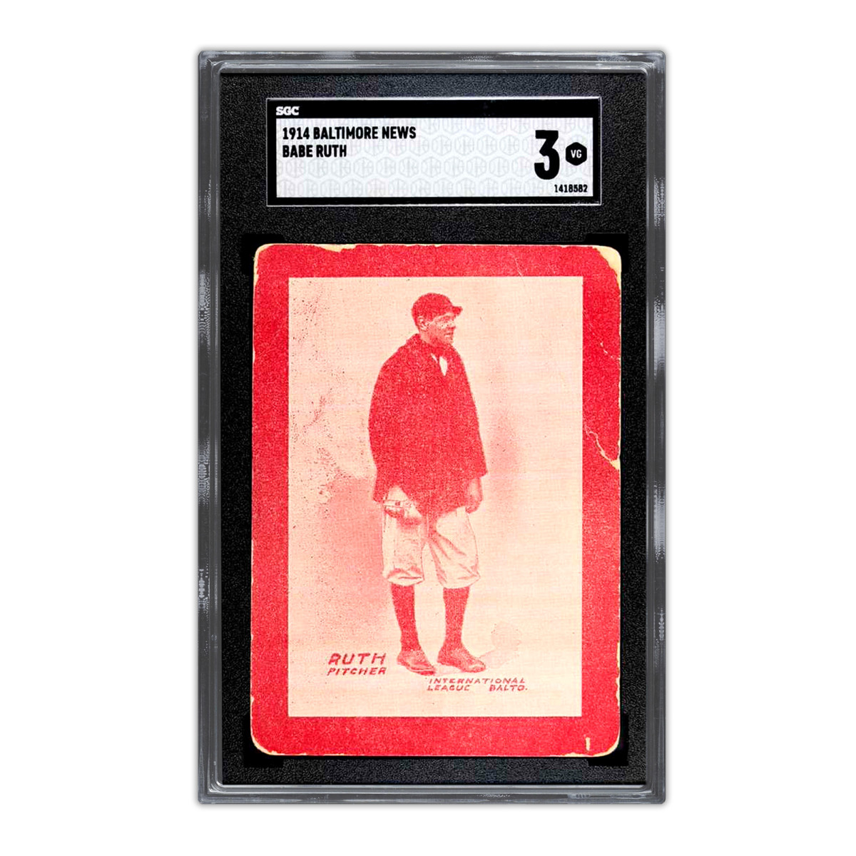 A 1914 Baltimore News Babe Ruth card is the highest-selling card in history and being offered to investors.