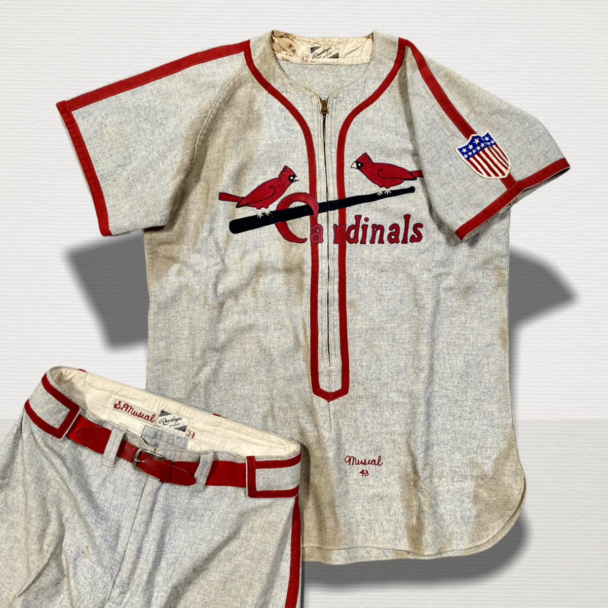 Stan Musial game-worn jersey from the 1943 World Series.