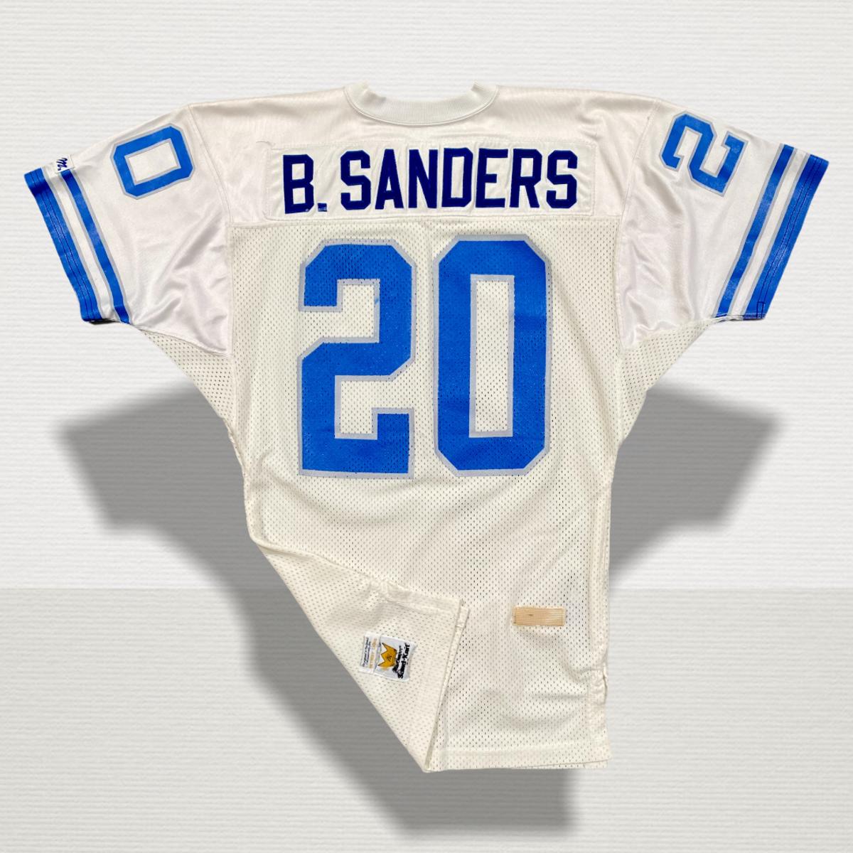 1990 game-worn Barry Sanders jersey.