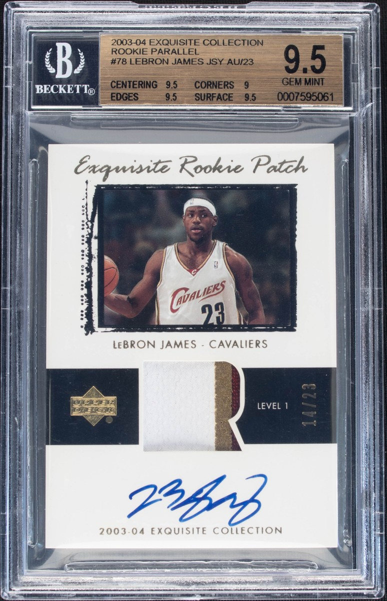 2003-04 LeBron James Upper Deck Exquisite Rookie Parallel card purchased by Leore Avidar and his Alt company.
