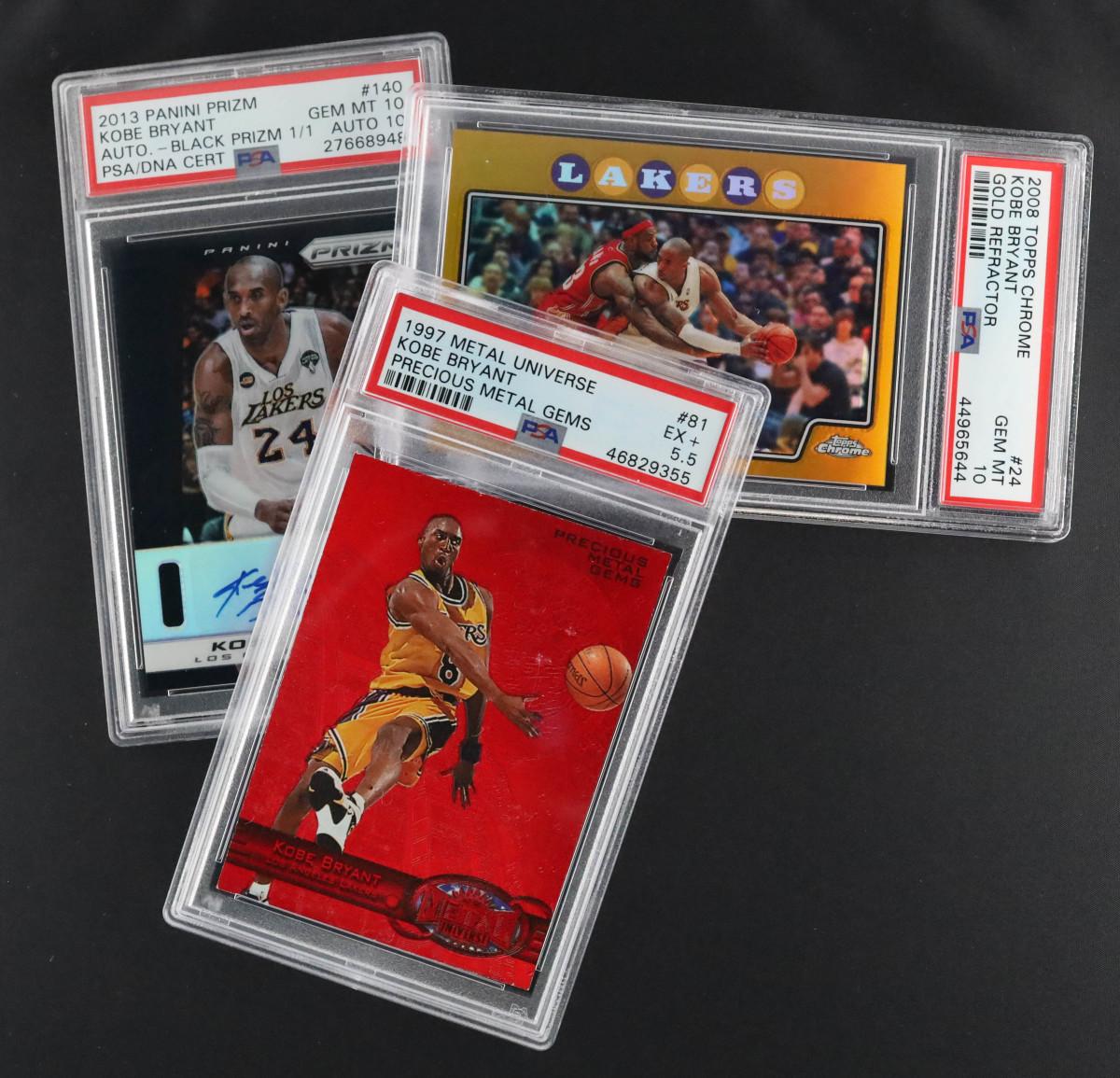 Leore Avidar's collection of Kobe Bryant cards.