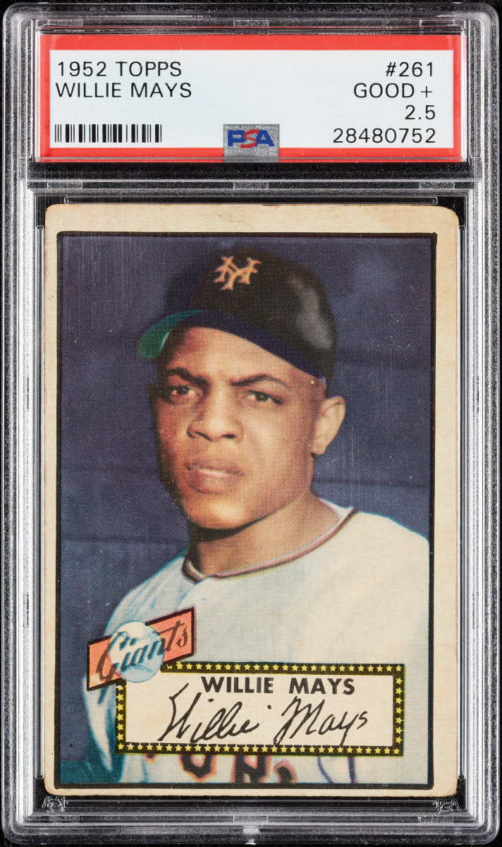 1952 Topps Willie Mays at Collect Auctions