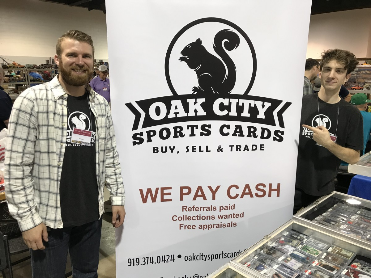 Holden Watkins and David Amato of Oak City Sports Cards in Raleigh, N.C.