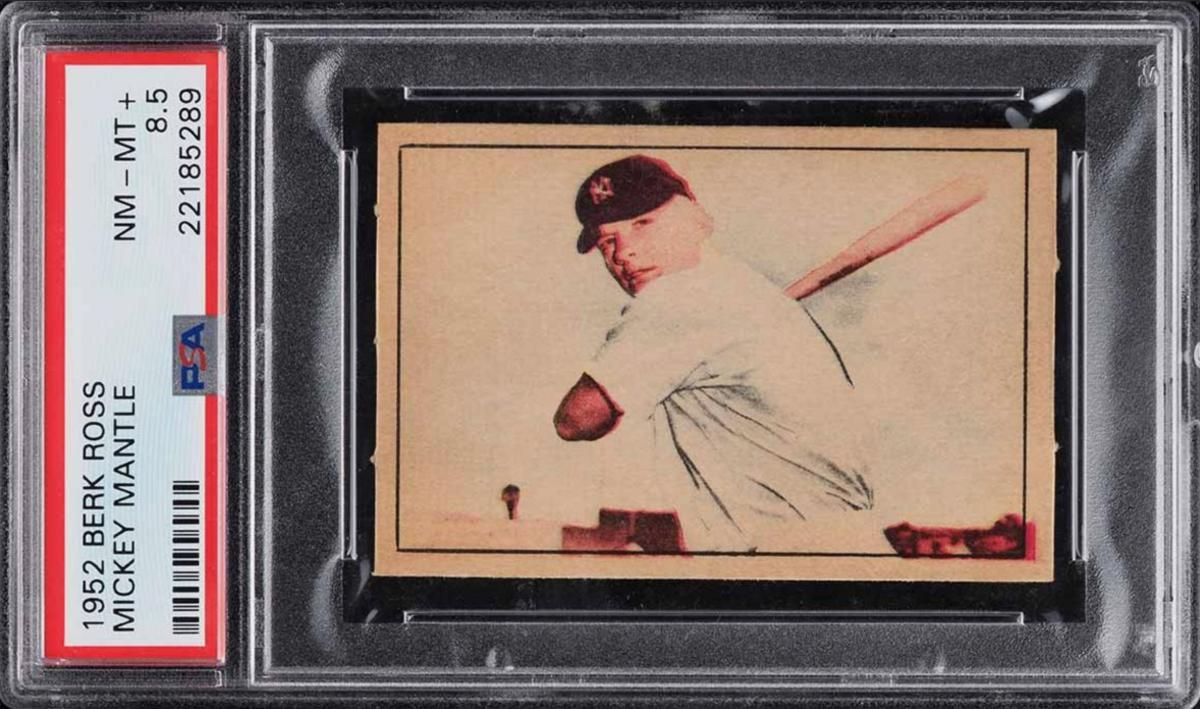 1952 Berk Ross Mickey Mantle card.