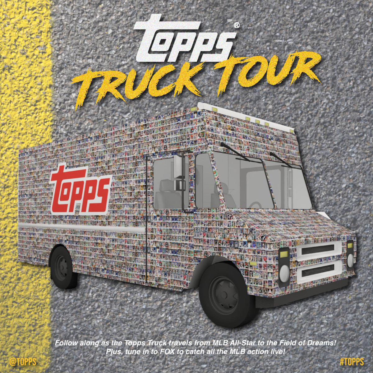 The Topps Truck Tour will travel 7,000 miles to honor National Baseball Card Day.