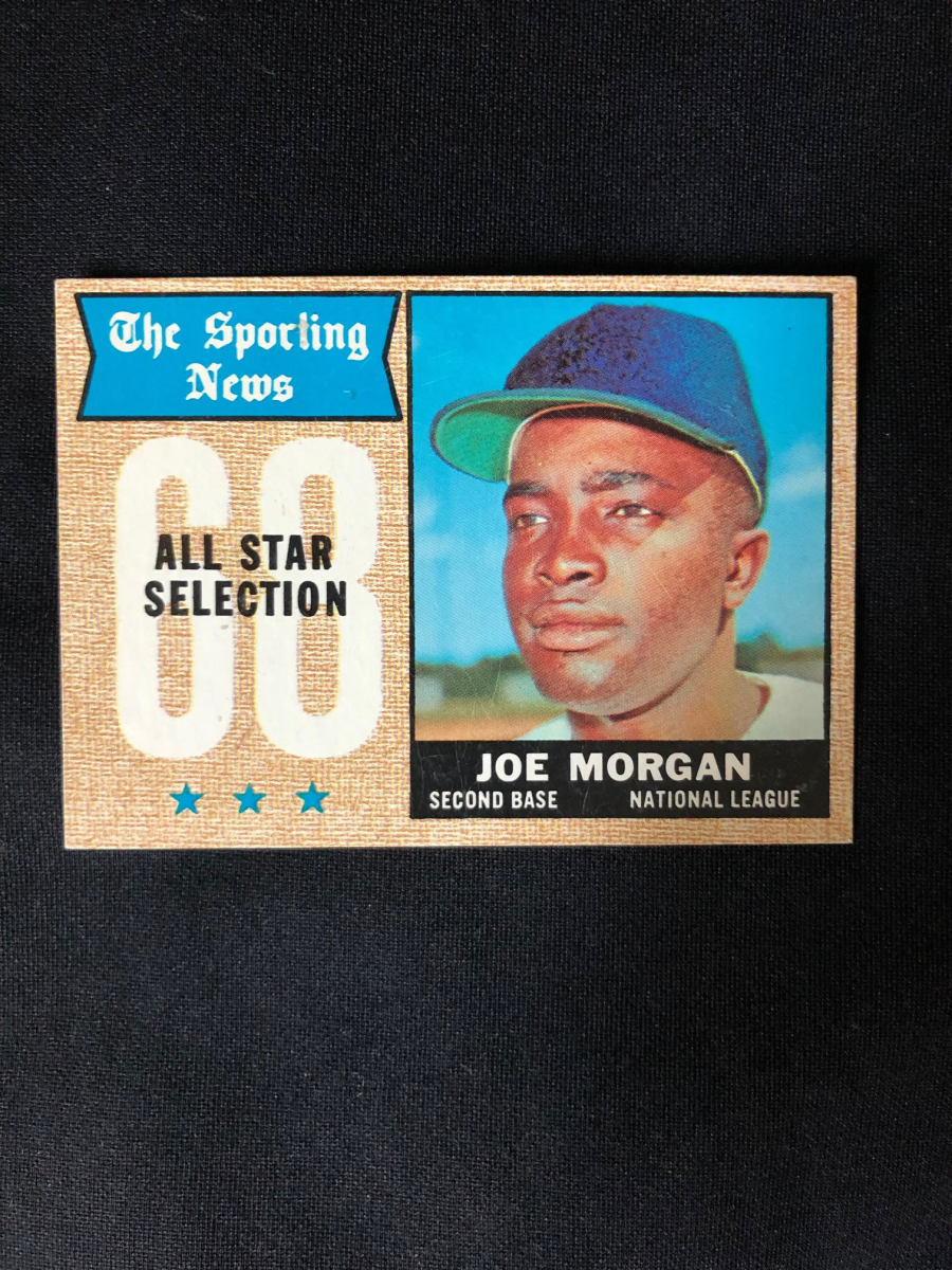 1968 Joe Morgan Sporting News All-Star card.