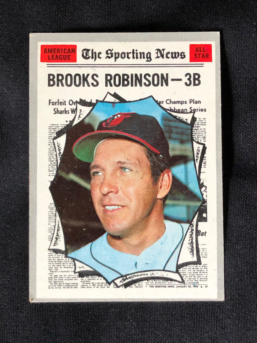 1970 Brooks Robinson Sporting News All-Star card.