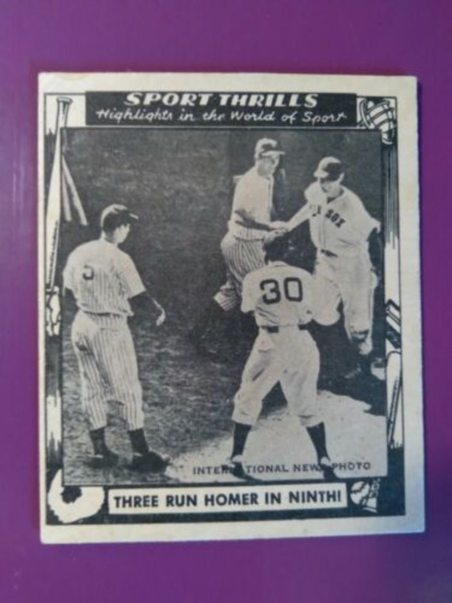 1948 Swell Sport Thrills Ted Williams card.