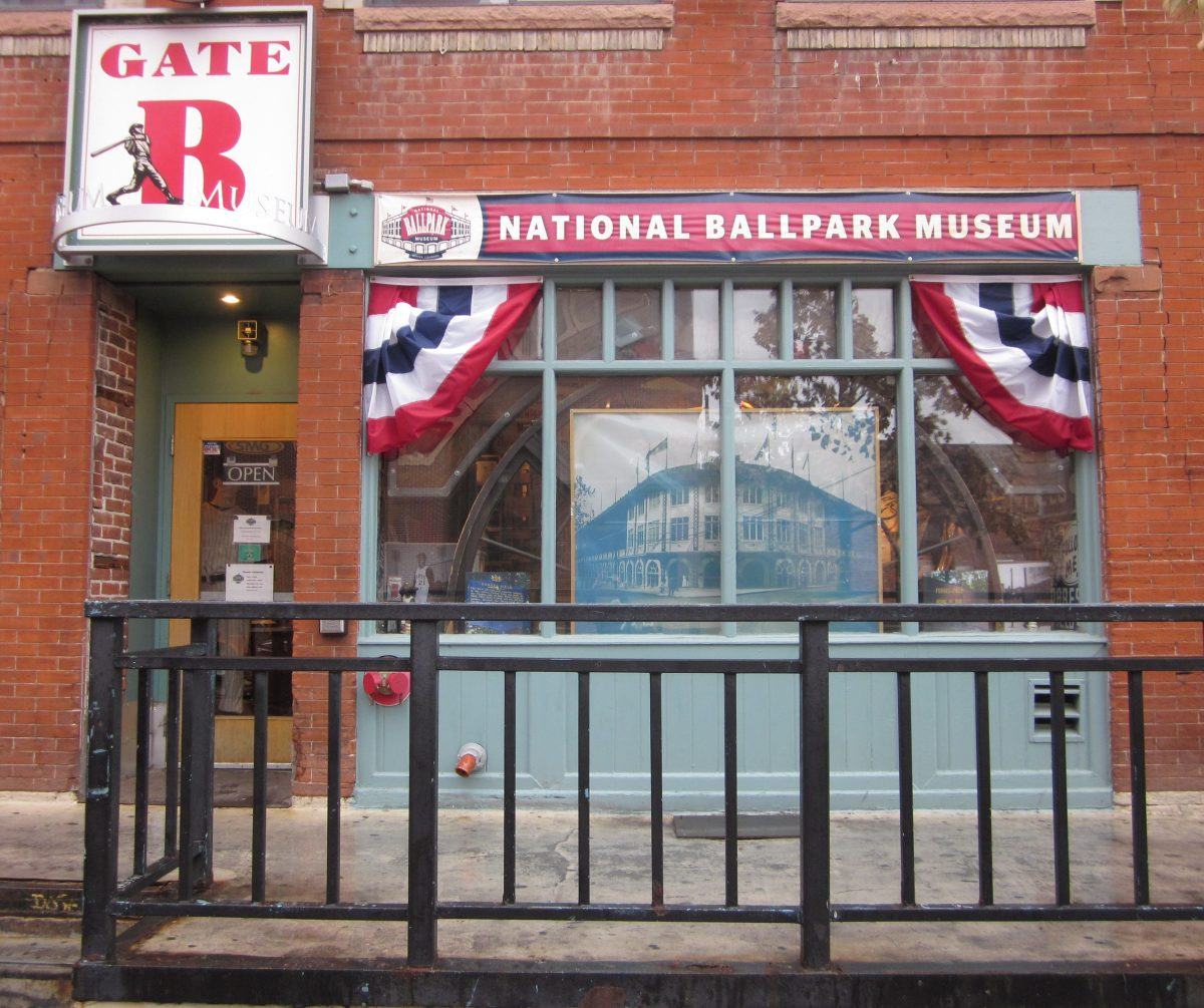 The National Ballpark Museum across from Coors Field in Denver.