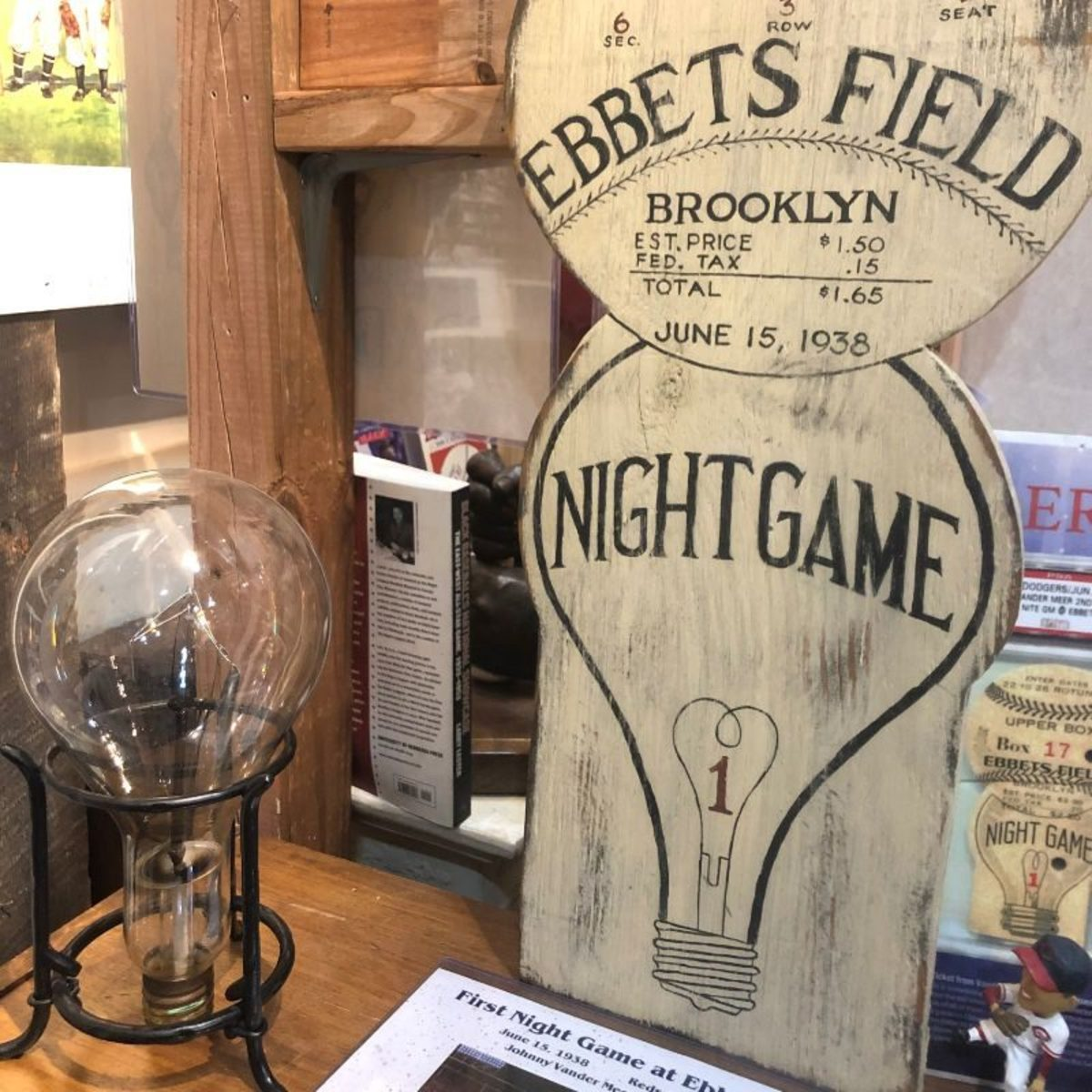 Ebbets Field exhibit at the National Ballpark Museum.