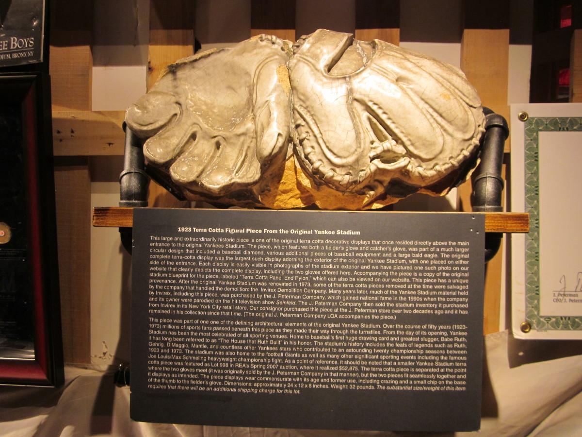 Yankee Stadium exhibit at National Ballpark Museum.