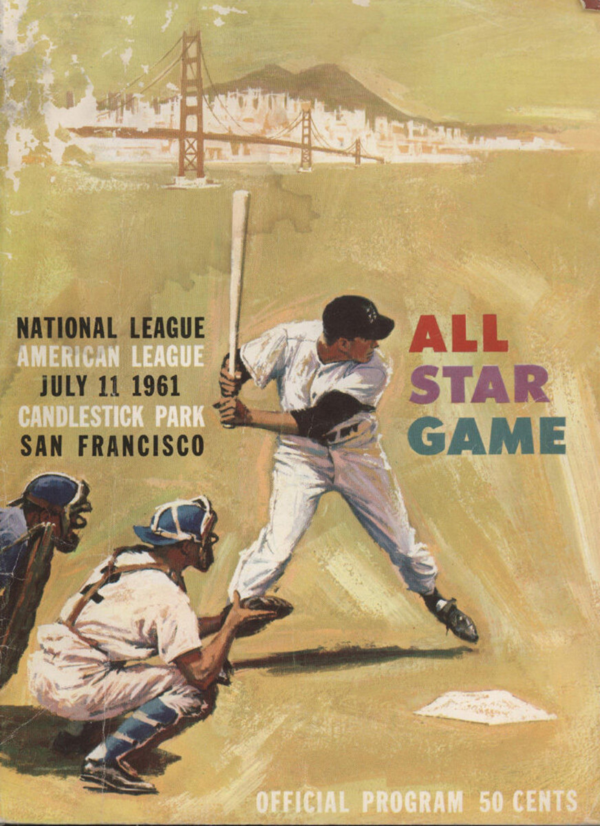 Program from the July 11, 1961 MLB All-Star Game.