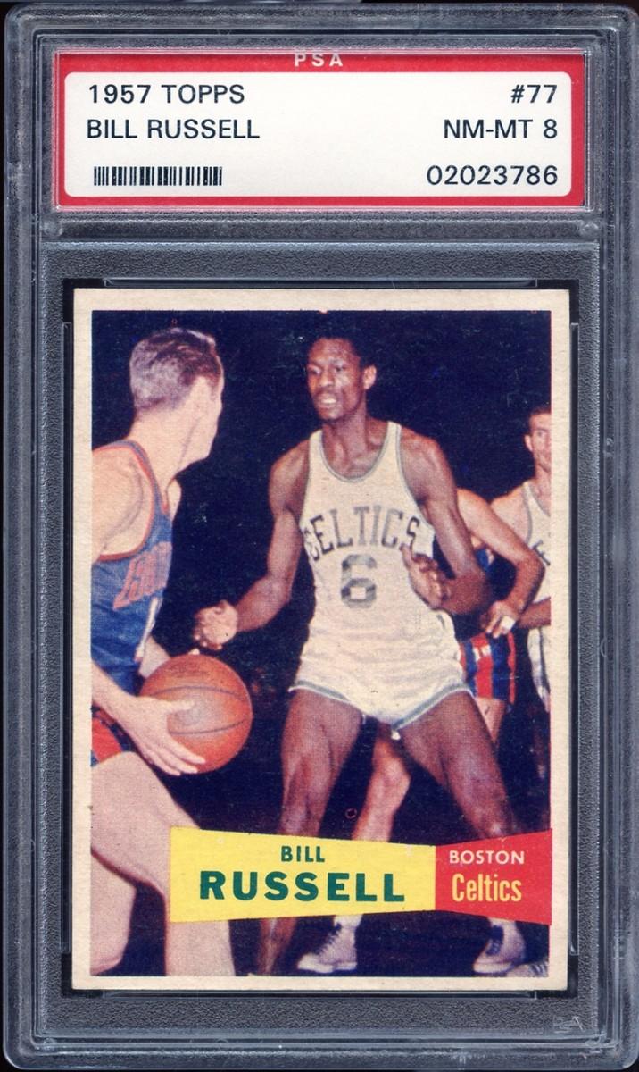 1957 Topps Bill Russell card.