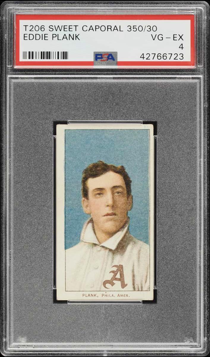 T206 Sweet Caporal card of Eddie Plank.