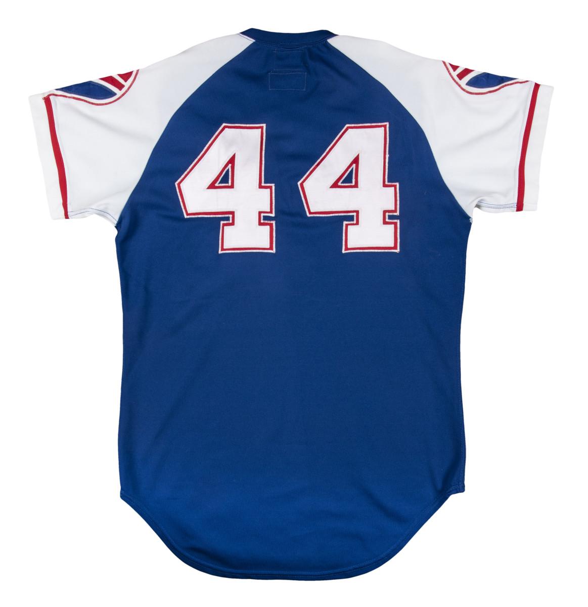 Hank Aaron jersey from record-breaking 1974 season.