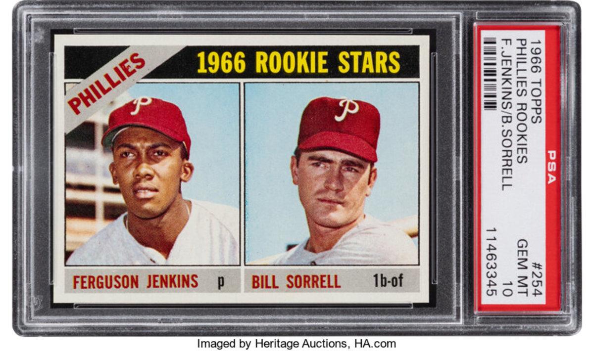 Fergie Jenkins' 1966 Topps rookie card.