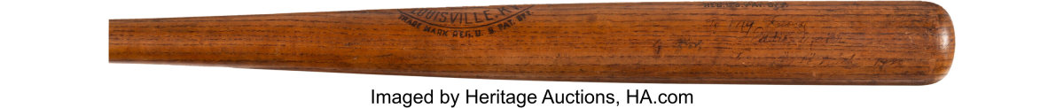 A game-used Babe Ruth bat is part of Heritage Auctions' Summer Platinum Night Auction.