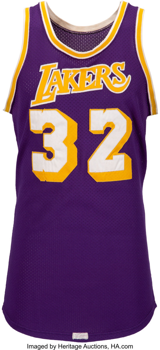 A game-worn Magic Johnson jersey from the 1980 NBA Finals is part of the Summer Platinum Night auction at Heritage Auctions.