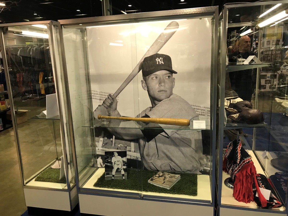 Heritage Auctions' Mickey Mantle display at the 2019 National.