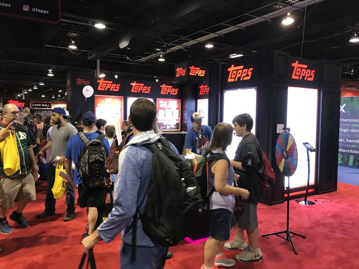 The Topps booth at the 2019 National.