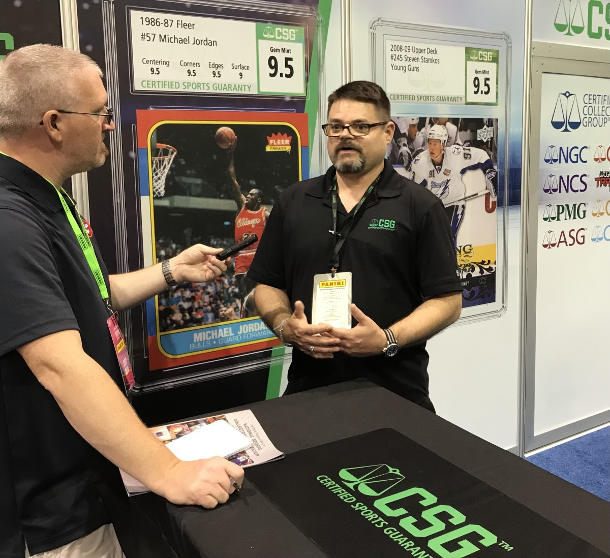 CSG's Andy Broome at the CSG booth at The National.