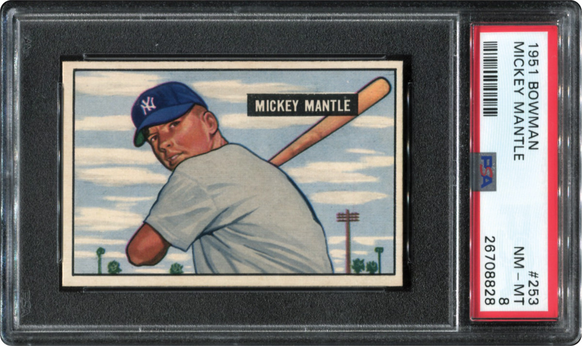 1951 Bowman Mickey Mantle card that was part of the Thomas Newman Collection.