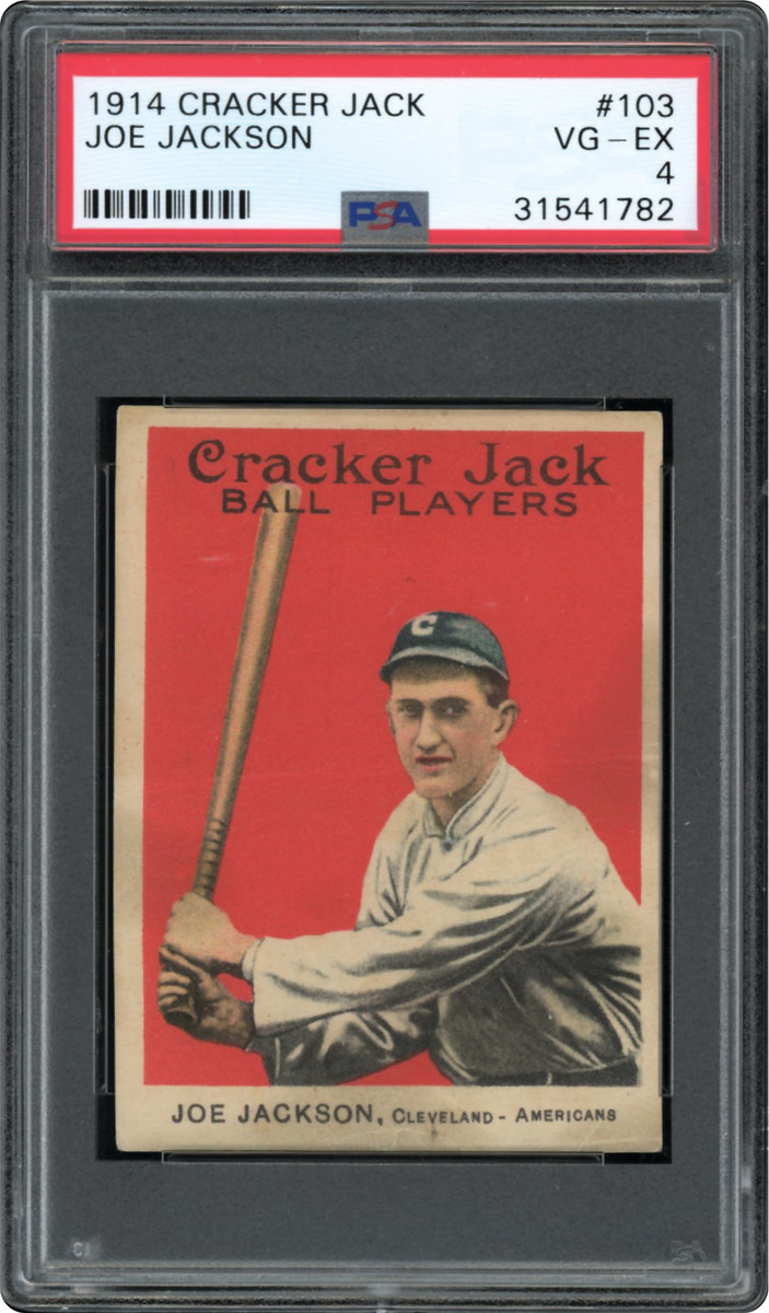 1914 Cracker Jack Shoeless Joe Jackson card that was part of the Thomas Newman Collection.