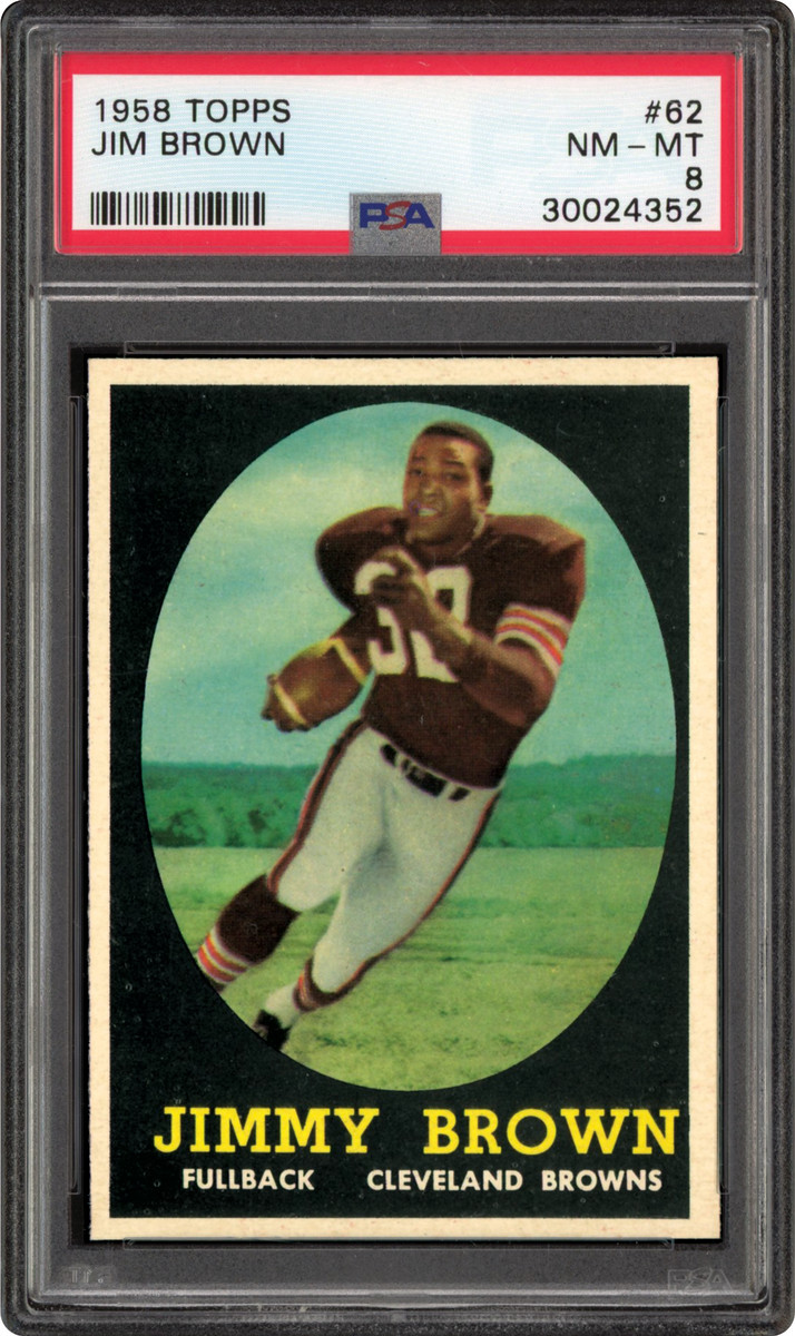 1958 Topps Jim Brown card that was part of the Thomas Newman Collection.