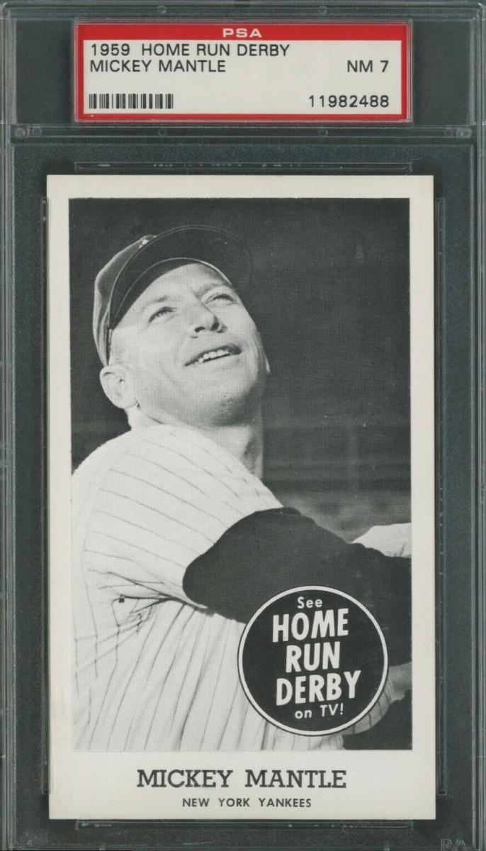1959 Mickey Mantle Home Run Derby card.