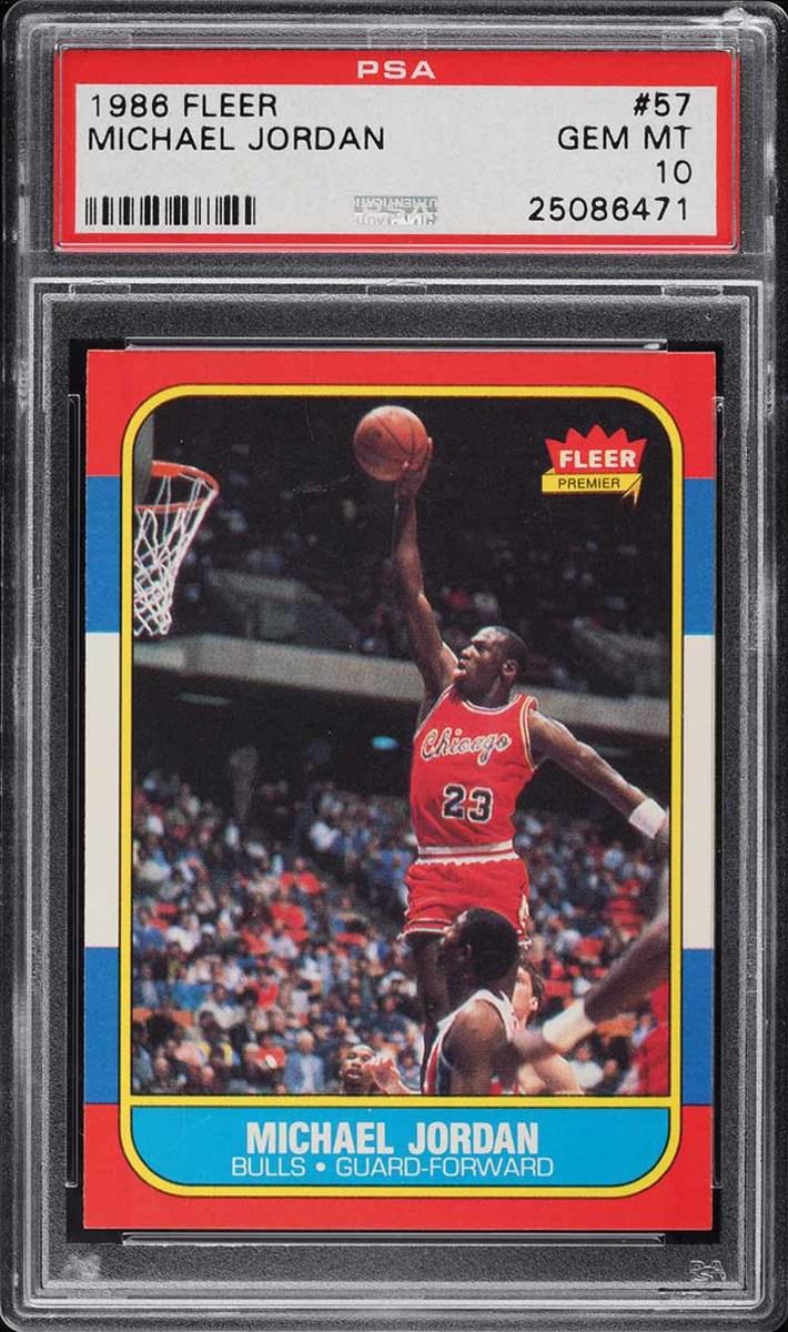 1986 Fleer Michael Jordan rookie card from PWCC Premier Auction.