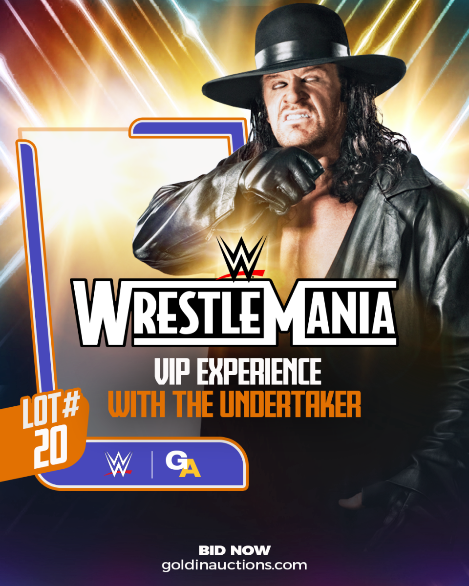 WrestleMania Experience being auctioned by Goldin Auctions.