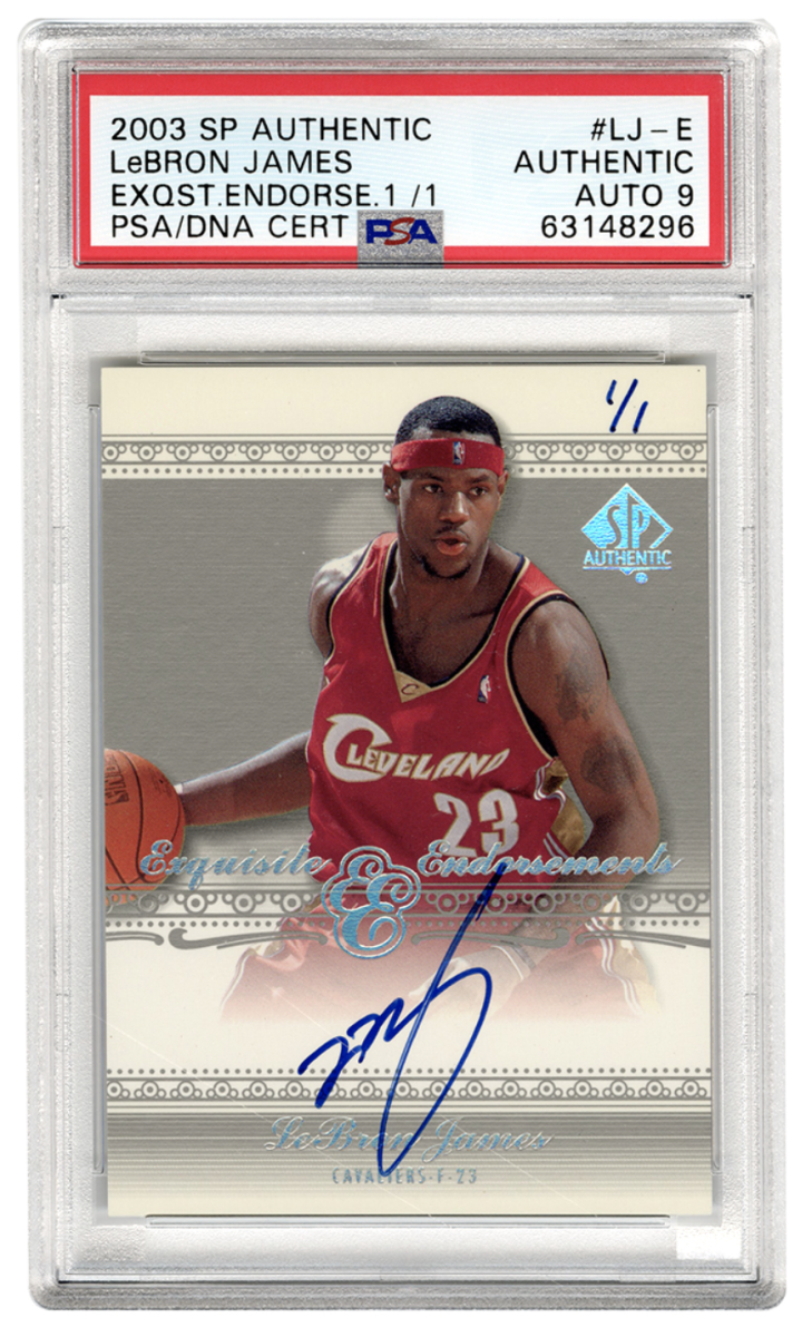 2003 SP Authentic 1/1 LeBron James rookie card up for auction at Gotta Have Rock and Roll.