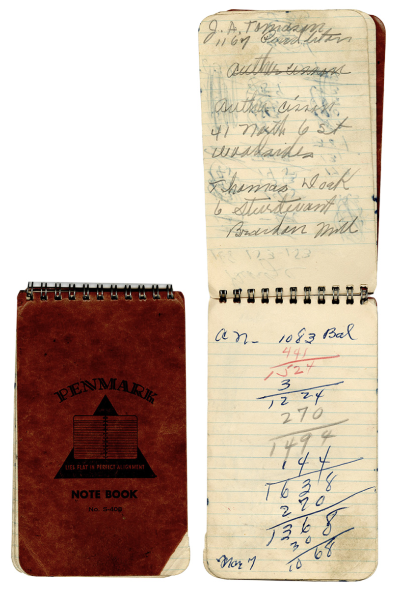 Shoeless Joe Jackson hand-written notebook up for auction at Gotta Have Rock and Roll.