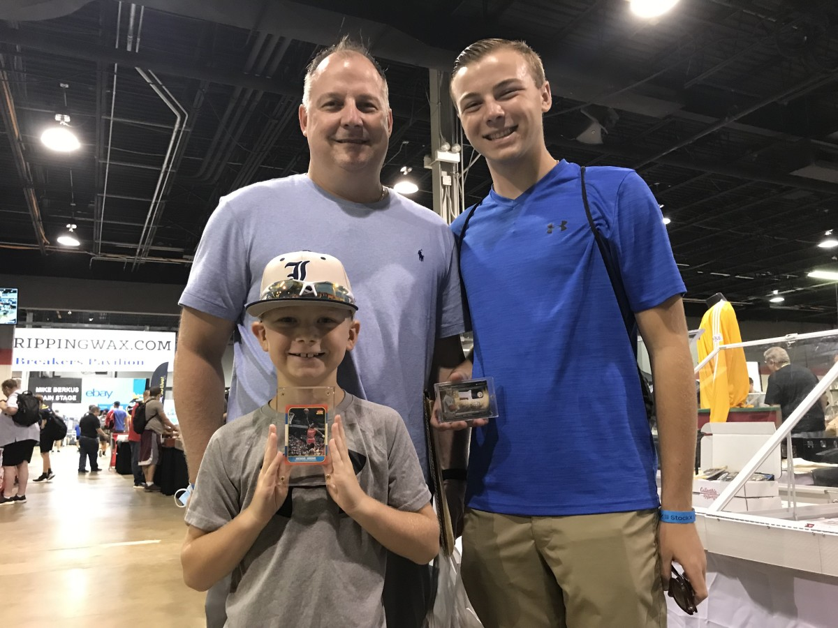 Mark Kula at The National with his sons, Andrew (right), and Malk.