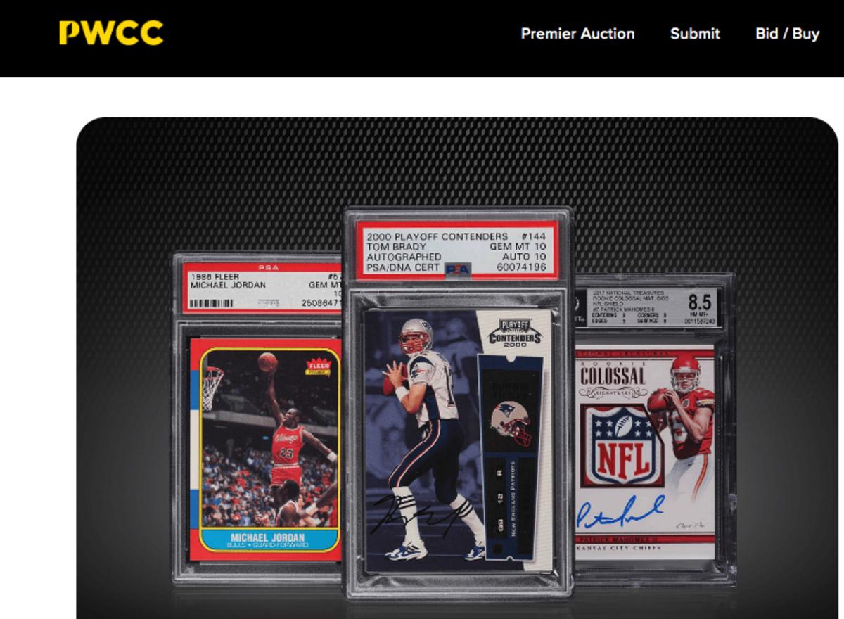 PWCC Marketplace website