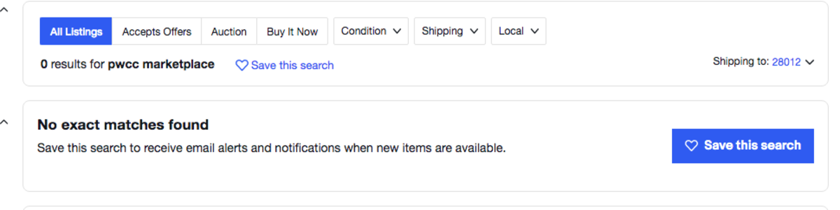 Screenshot on eBay of PWCC Marketplace.
