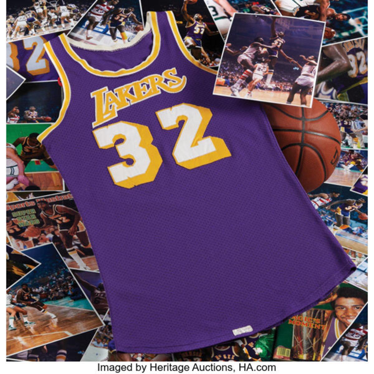 Magic Johnson game-worn jersey from 1980.