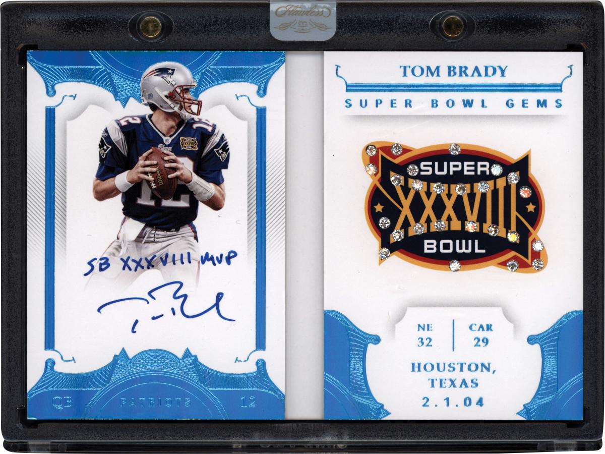 Panini Flawless autographed Tom Brady Super Bowl card.