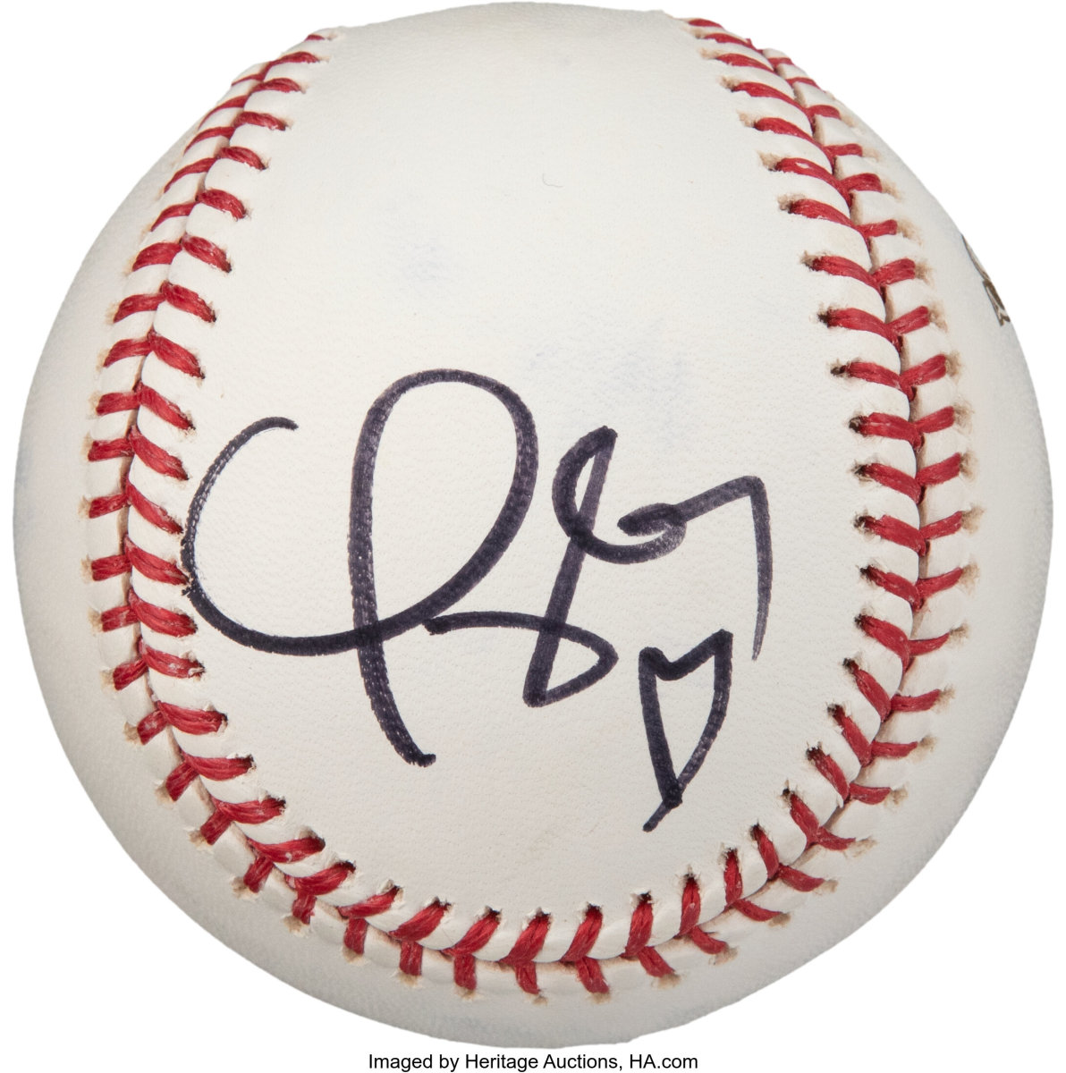 2008 World Series ball signed by Taylor Swift.