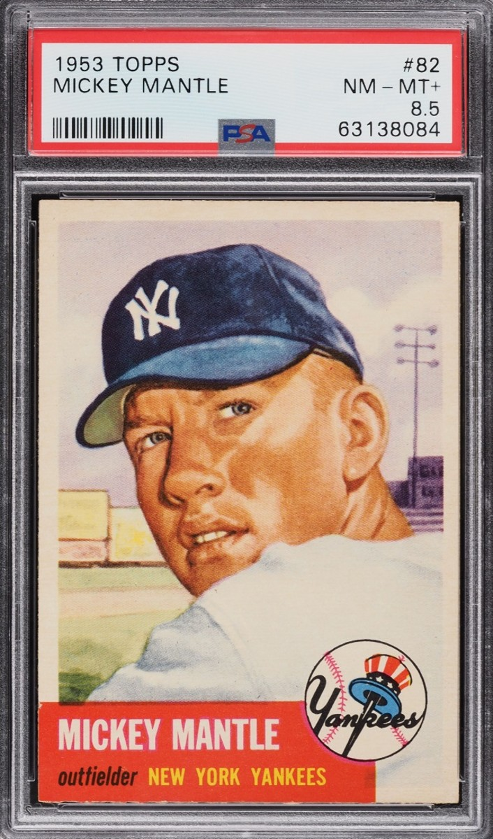 1953 Topps Mickey Mantle card in PWCC's September auction.