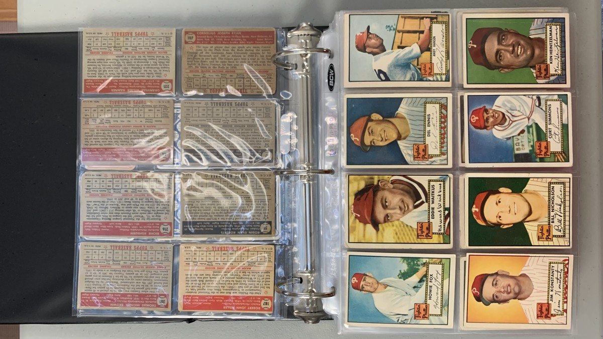 Mike Orzechowski's collection of Topps Philadelphia Phillies cards.