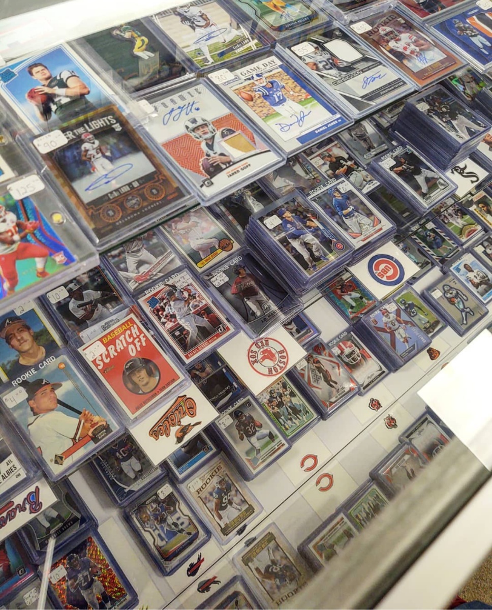 Sports cards at Sports Zone Toys & Comics in Sunbury, Pa.