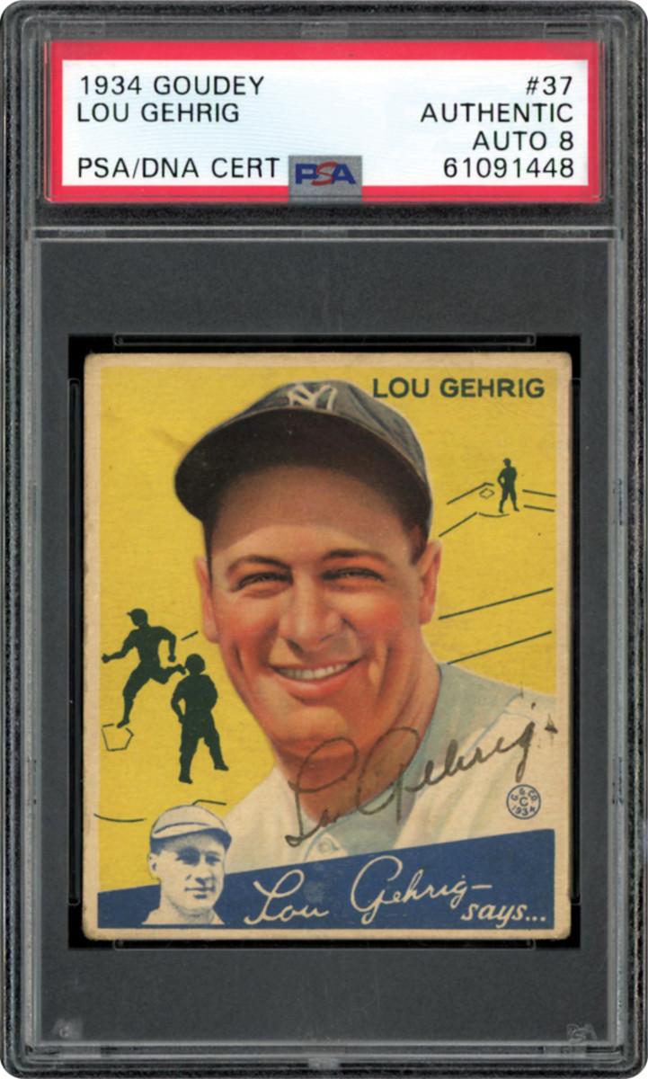 1934 signed Goudey Lou Gehrig.