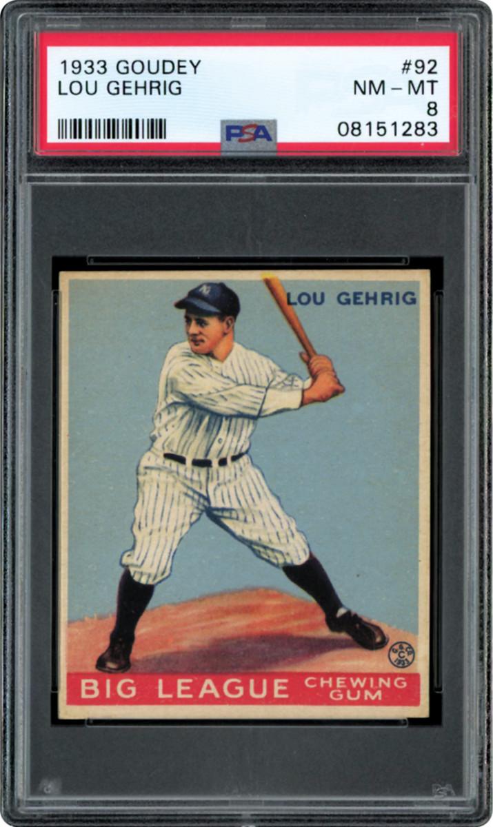 1933 Goudey Lou Gehrig.