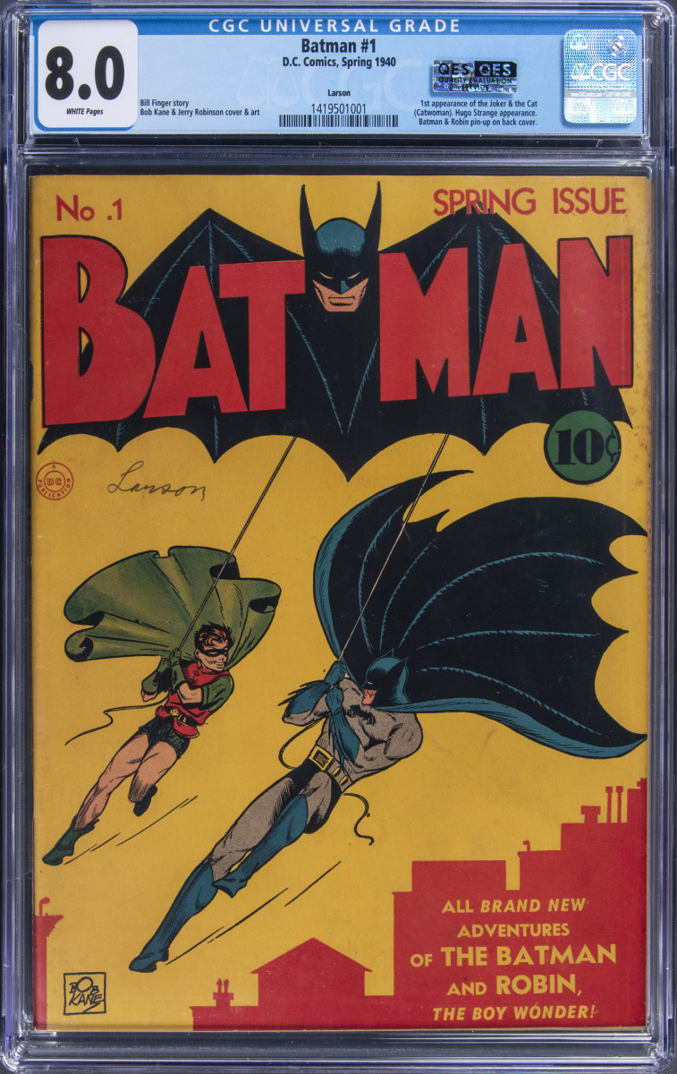 A rare first-edition No. 1 Batman comic is up for bid at Goldin Auctions.