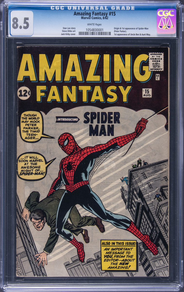 Rare Spider-Man comic being auctioned by Goldin Auctions.