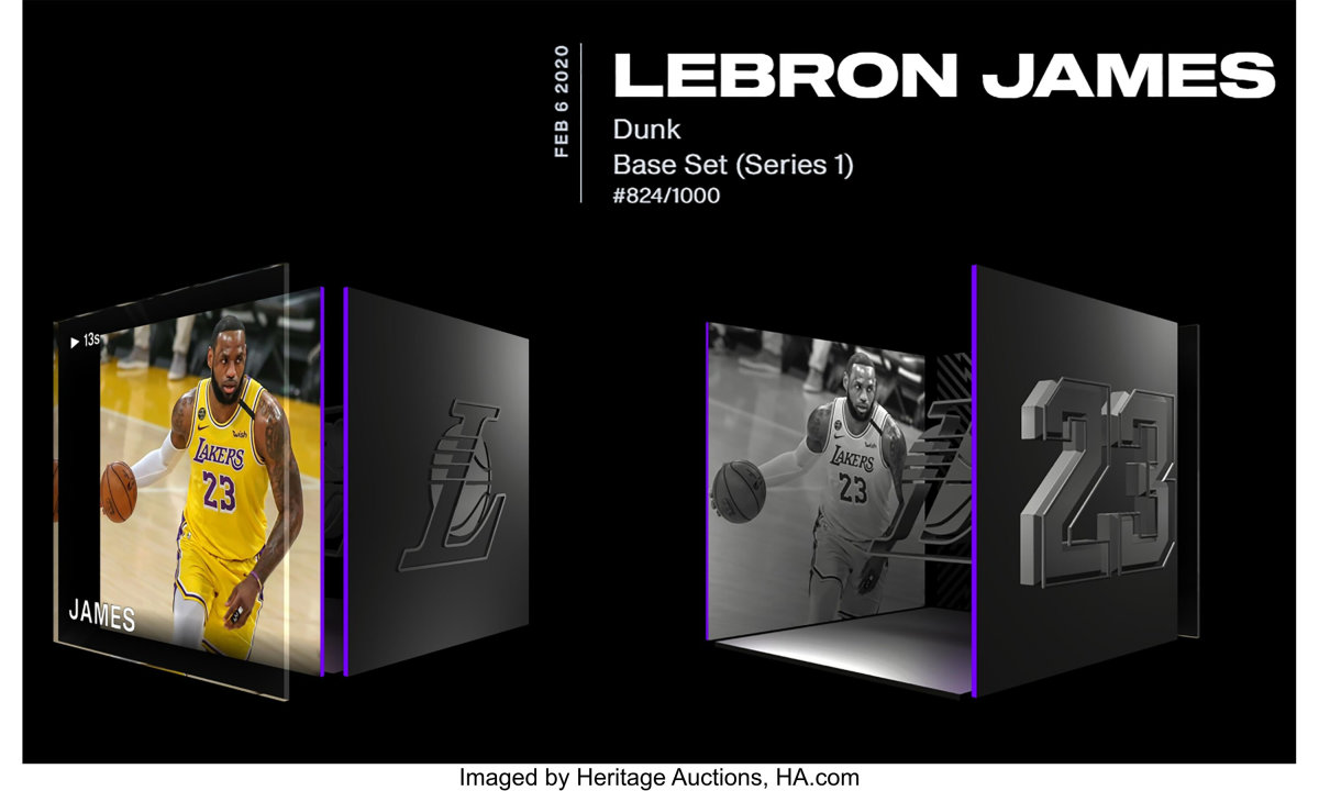 LeBron James NFT that sold for more than $62,000 at Heritage Auctions.